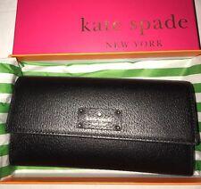 BNIB Kate Spade NEW YORK 'Grove Street Jean' Black Purse/Wallet. RRP £199