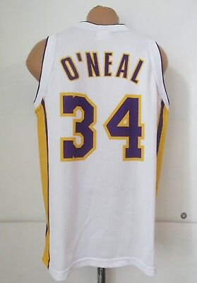 LOS ANGELES LAKERS #34 SHAQUILLE O'NEAL JERSEY SHIRT TOP NBA VTG ...