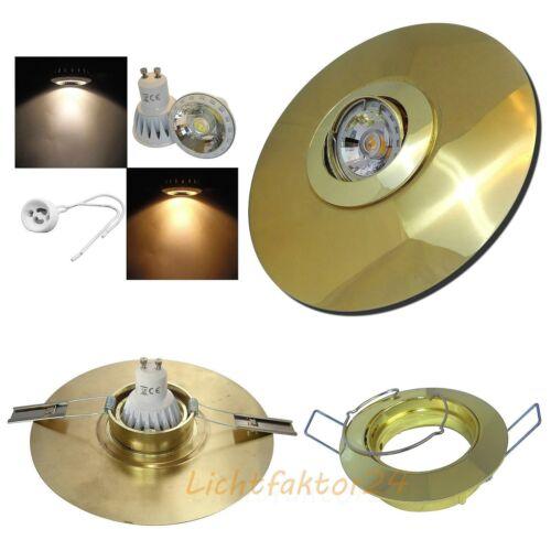 Große 185mm LED Einbauspots 230Volt 7W Einbaustrahler BIG Jan Loch= 70 bis 170mm