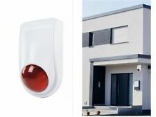 Dummy Alarm Bell Box - Dummy Burglar Alarm Bell Box - Orange Lens + LED Light