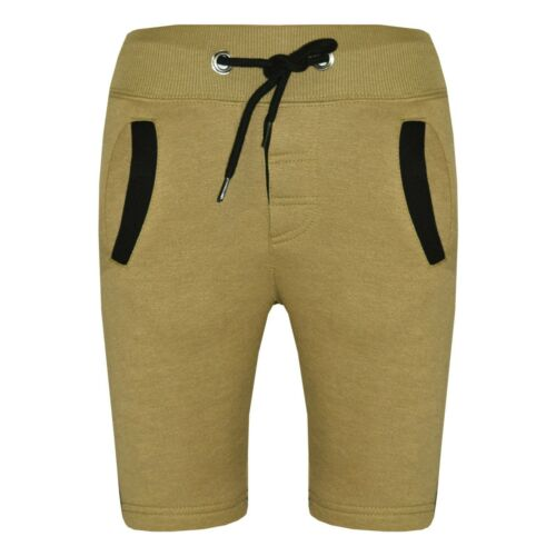 Kids Boys Shorts Fleece Olive Chino Shorts Knee Length Half Pant Age 2-13 Years