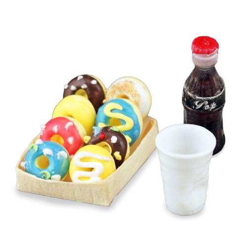 Reutter Porzellan Donuts and Cola Donat Dessert Set Dollhouse 1:12 Art 1.652//8
