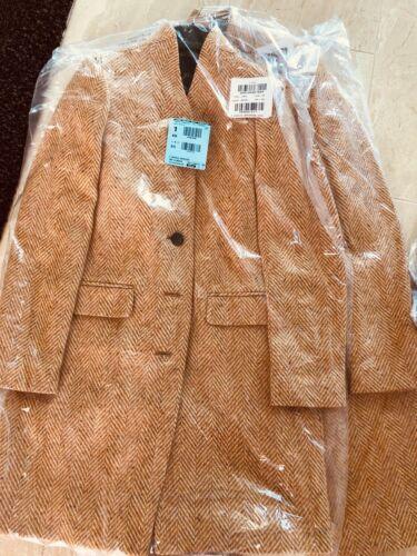 J Camel T4 Nwt Herringbone English Crew Wool In Oversized Topcoat Tall TPF6PB