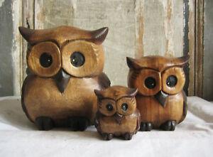 Wunderschoene-EULEN-aus-Holz-Kauz-Eule-Schuhu-UHU-Kautz-verschiedene-Groessen-owl