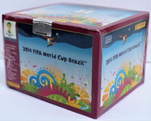 Panini WM 2014 Brasilien rare pink Version Display mit 100 Tüten