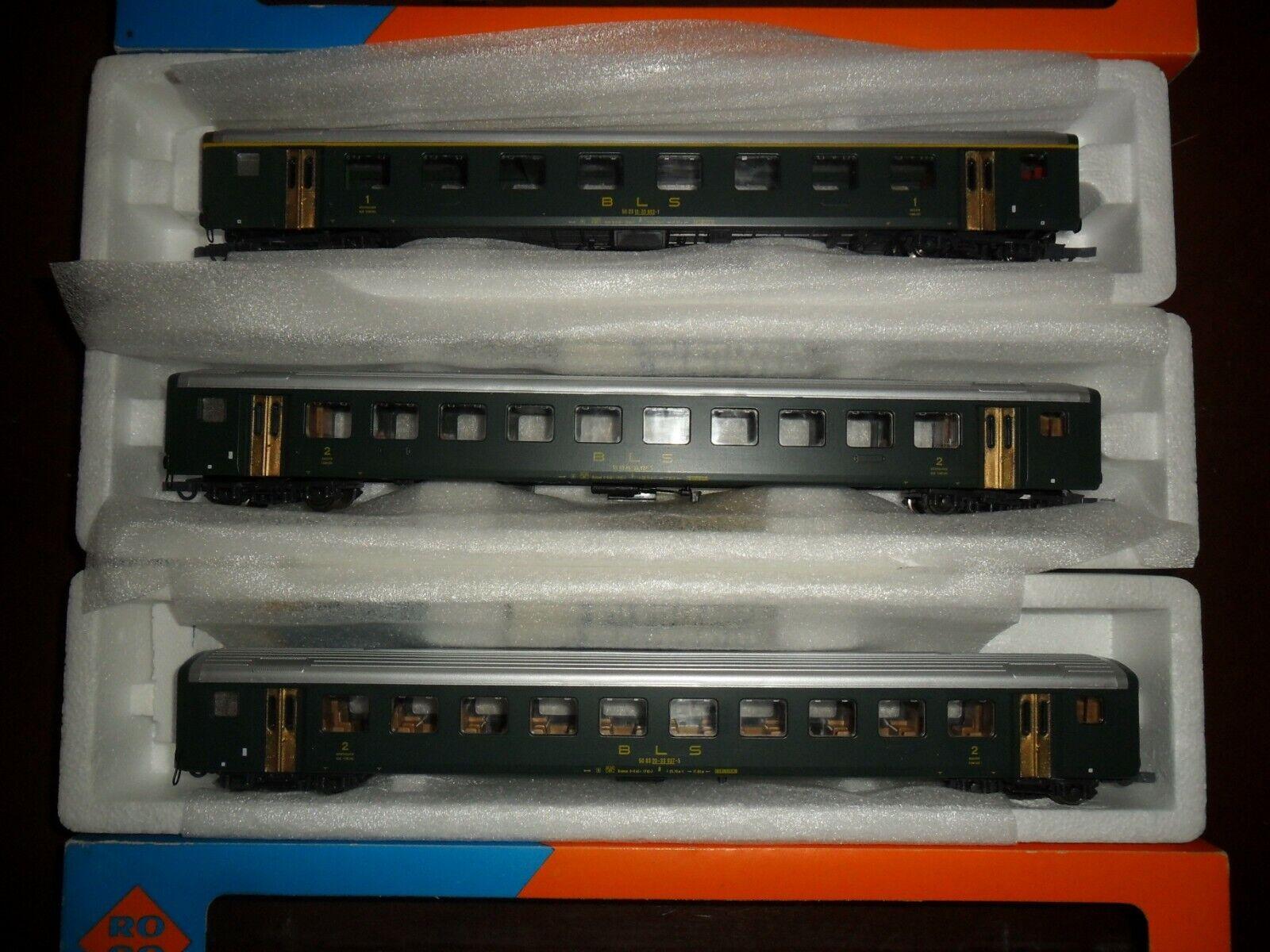 diseño simple y generoso Roco-BLS Roco-BLS Roco-BLS - 3 unid EW-II reisezugwagenset  1 KL. + 2 x 2 KL. - WS-como nuevo  calidad fantástica