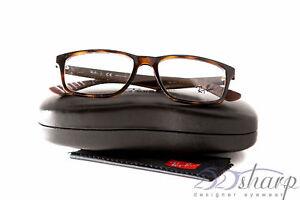 8d830ae227d Image is loading Ray-Ban-Eyeglasses-RB-7063-5577-SHINY-HAVANA
