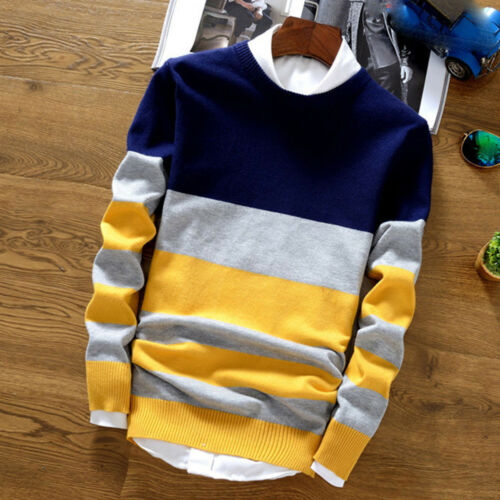 Stylish Korean Fashion Men's Warm Knitted Sweater Pullover Tops Knitwear Zsell