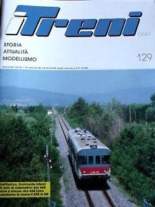 I Treni 129 1992 35 anni di Automotici ALn 668 - Poster ALe 601 Alitalia