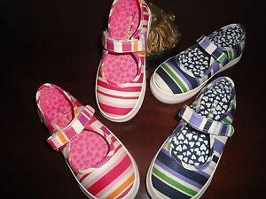 NIB Pink or Purple 12 13 13.5 or 1 Morgan /& Milo Striped Mary Janes Shoes $48+