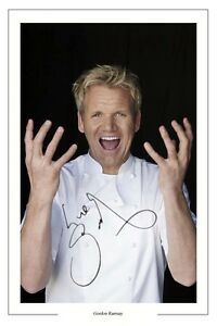 GORDON RAMSAY AUTOGRAPH SIGNED PHOTO PRINT HELLS KITCHEN NIGHTMARES