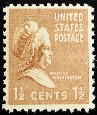1938 1 1/2c Martha Washington, First Lady Scott 805 Mint F/VF NH