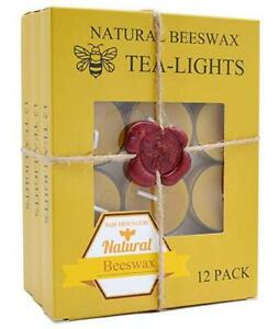 Beeswax-Tealight-Candles-Bulk-Natural-Scent-Smokeless-Pack-of-36