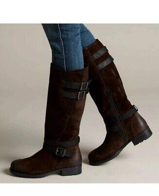 adelia dusk womens clarks knee high boots