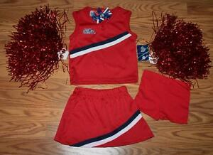 ed32809d6 CHEERLEADER COSTUME OUTFIT HALLOWEEN OLE MISS MISSISSIPPI CHEER SET ...
