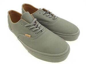 9b3a707232 Vans Men Era Decon CA - Mono Leather gray frost rubber VN0OX1GJQ