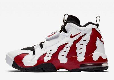 8a948998bb003d Nike Air DT Max 96 White Varsity Red Black 316408-161 Deion Sanders Diamond  Turf
