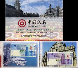 CHINA 20TH SET 2 PATACAS 2019 RETURN OF MACAU DRAGON GEM UNC PMG