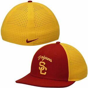 05f8da11c5e31 NIKE USC TROJANS College True Vapor Hat Cap Red Gold Adult Stretch ...