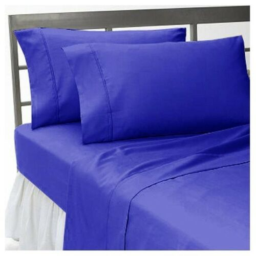 Awesome 1000TC Fitted Sheet With 2 Pillow Case Egyptian Cotton Twin-XL Size