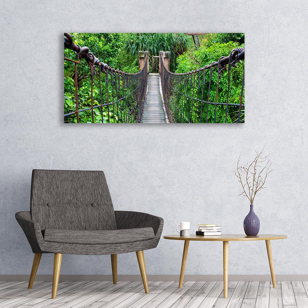 Avoir une maison, avoir de l'amour, as-tu Image sur verre verre sur acrylique Tableau Impression 120x60 Architecture Arbres Pont b82f63