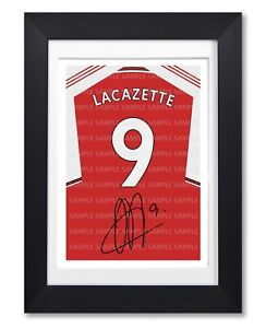 Alexandre Lacazette #4 FREE DELIVERY Arsenal Signed Photo A5 Mounted Print