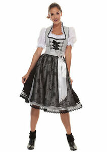 dirndl midi mit doppelsch rze marjo ebay. Black Bedroom Furniture Sets. Home Design Ideas