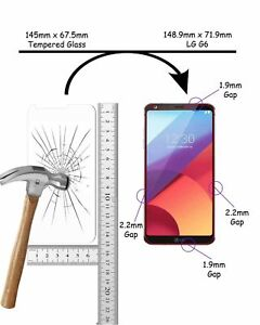 100% Real Clear Premium HD Tempered Glass Screen Protector Guard for LG G6
