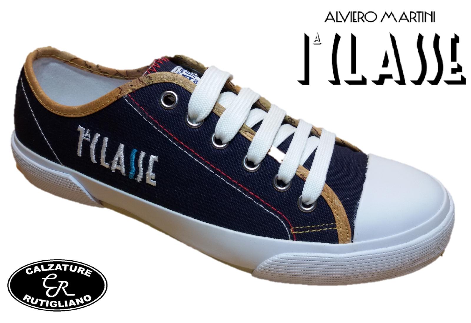 ALVIERO MARTINI - Prima Classe schuhe Damens RAGAZZA TELA BLU SNEAKERS - 0377