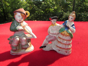 Lot Of 2 Occupied Japan Figurines Porcelain Pair Man Woman Boy With Violin Ebay