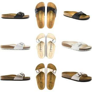 Birkenstock-Madrid-Birko-Flor-Sandals-Narrow-Women-039-s