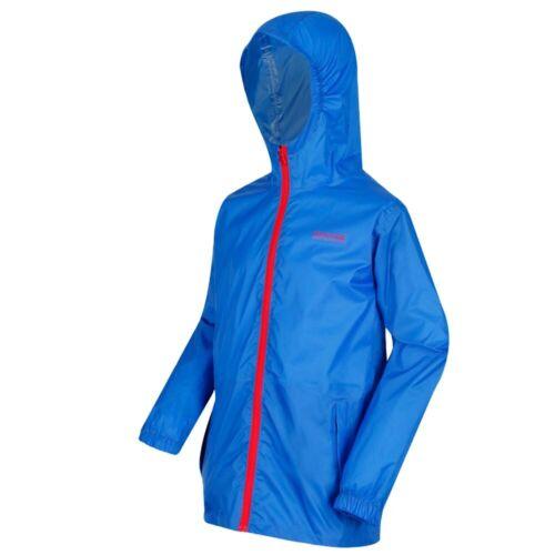 Regatta Kids Waterproof Lightweight Jacket Camping Raincoat Hoodie Coat Pack