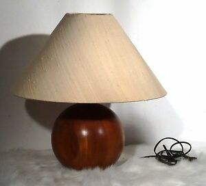 mid century danish design kugel tischlampe gr lampe vintage teak leuchte 60 39 s ebay. Black Bedroom Furniture Sets. Home Design Ideas