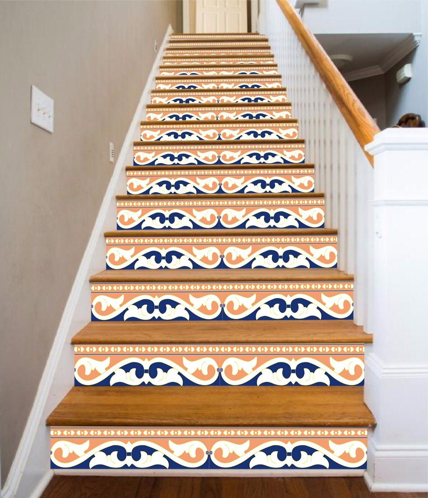 3d rebemuster 390 Stair Risers Décoration Papier Peint Vinyle Autocollant Papier Peint De