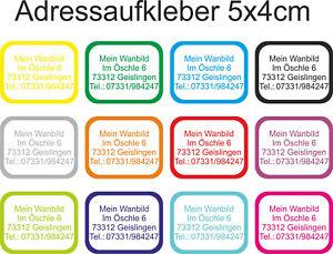 Wunsch-Text-Namen-Adress-Aufkleber-Kindergarten-Etiketten-Wasserfest-50x40mm