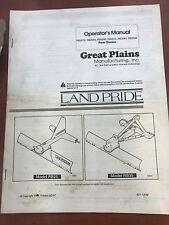 Landpride Owner Manual Rb2572 Rb2584 Rb2596 Rb3572 Rb3584 Rb3596 Blades 301 131m