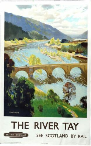 Vintage British Rail River Tay Scotland Railway Poster A3 Print