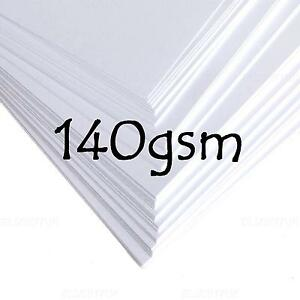 A4 a5 white thick paper blanks stock craft hobby wedding for Craft paper card stock