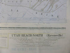 US ARMY BIGOT WAR MAP NORMANDIE Landungskarte UTAH BEACH Top Secret Landkarte