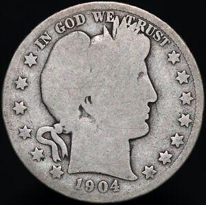 1904-O-U-S-A-Barber-Half-Dollar-Silver-Coins-KM-Coins