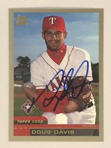 Doug Davis SIGNED AUTOGRAPH 2000 Topps Rookie Card Texas Rangers RC