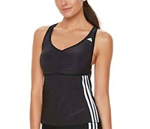 Adidas-Black-Light-As-Heather-Active-Sport-Swim-Tankini-Top-Women-039-s-s-L-2ABF183