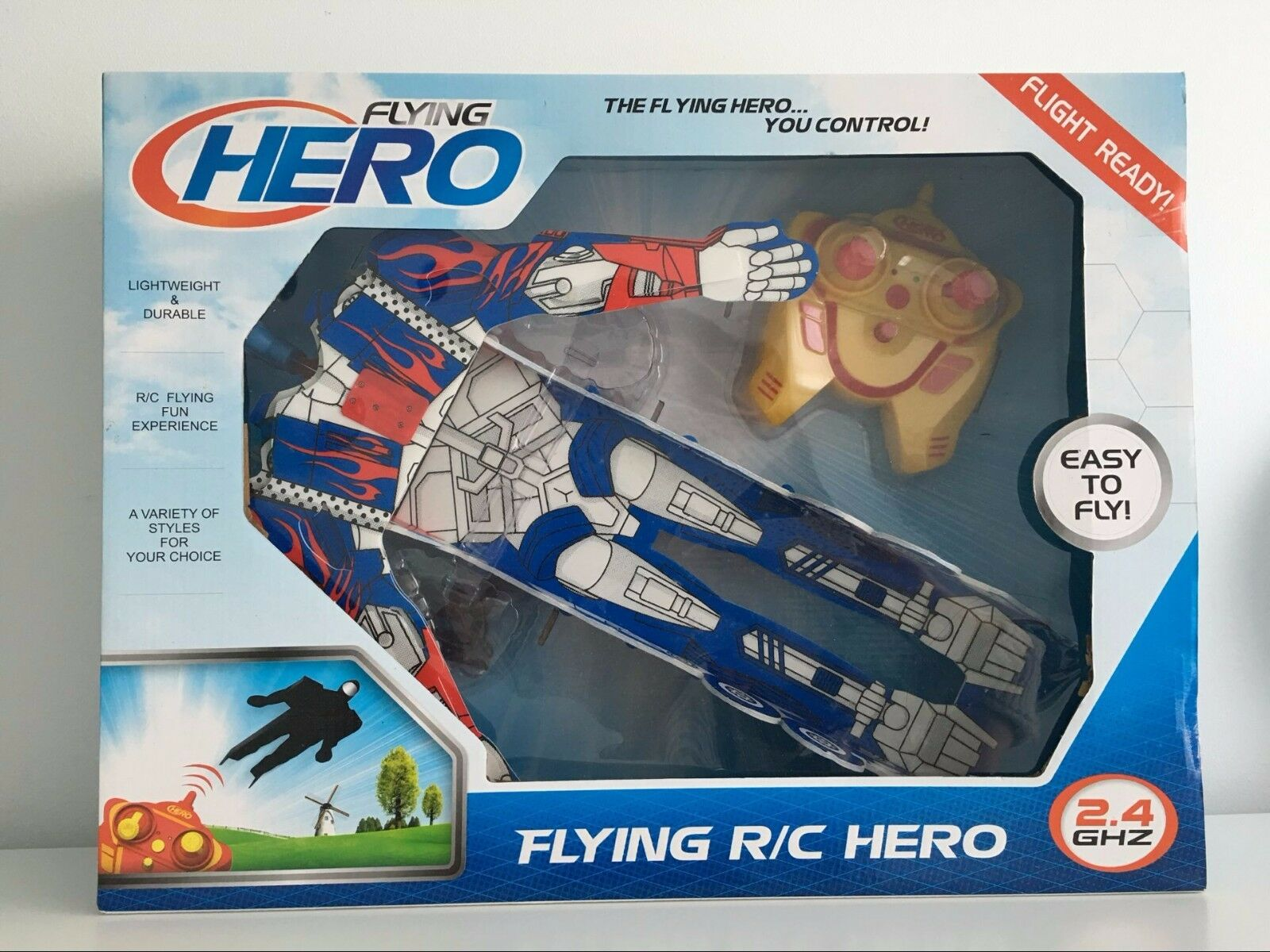 Flying R/C Hero 2.4GHZ 2 Channels Radio Control Lightweight&Durable Outdoor Toy