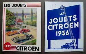 Lot-de-deux-Catalogues-fac-simile-Les-Jouets-Citroen-1935-amp-1936