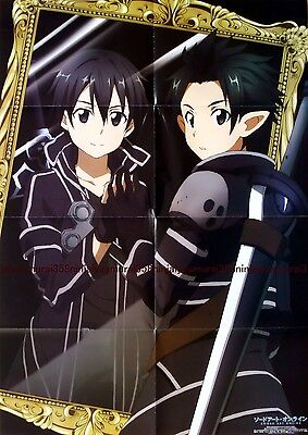 Sword Art Online SAO / The labyrinth of magic MAGI poster big huge large Kirito