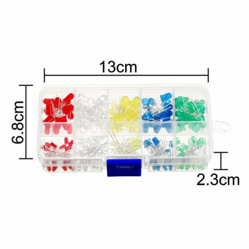 3mm 5mm LED Sortiment 200 Stück rot grün gelb blau weiß Leuchtdioden Superhelle