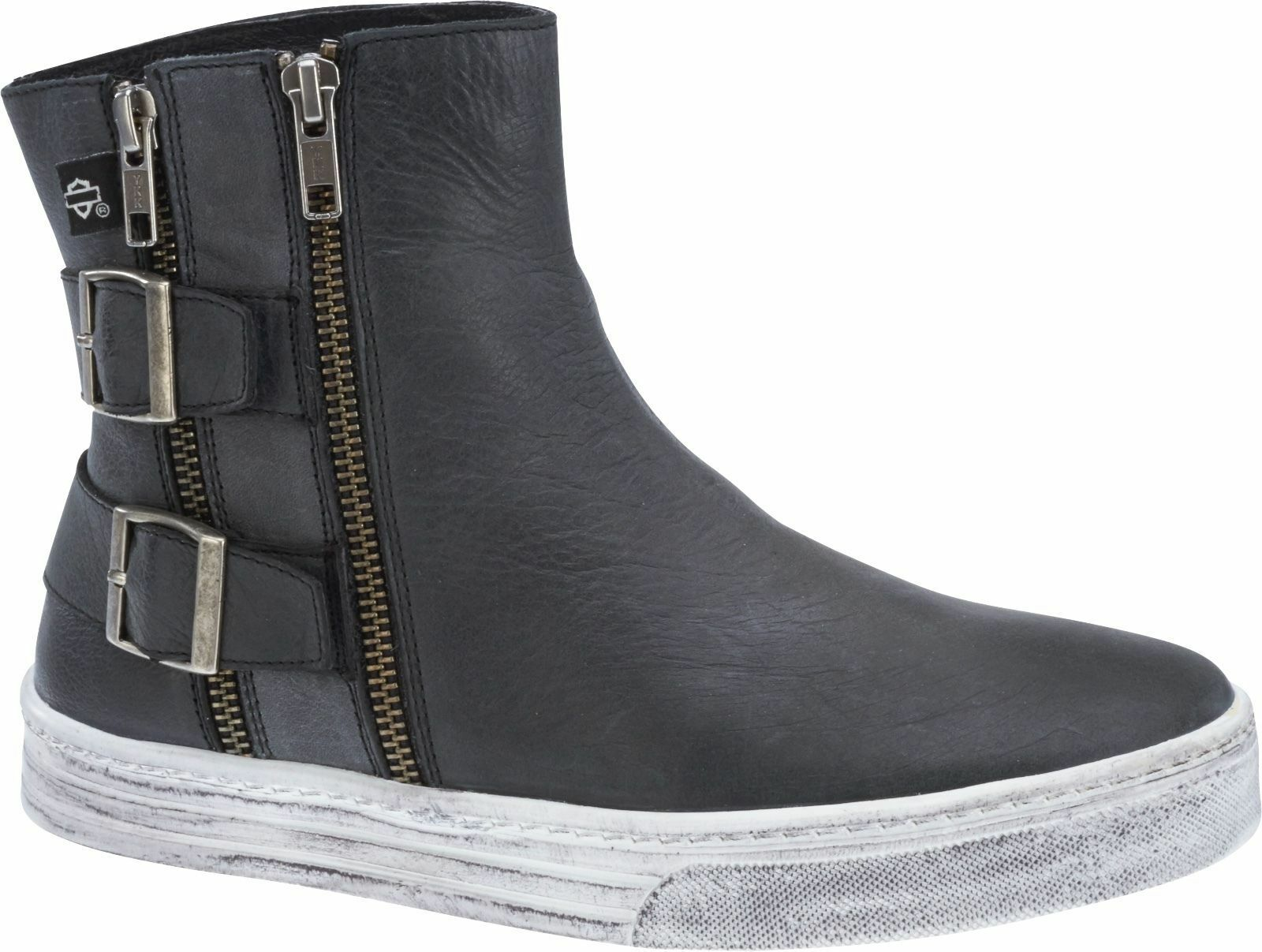Harley-Davidson Women's Casual Boots Shoes Sneakers Gray Leather Inkwood D88805