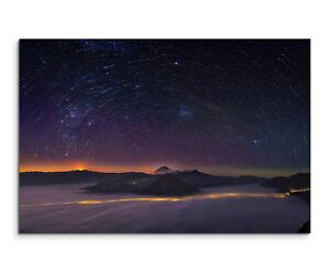 Wandbild Landschaftsfot<wbr/>ografie Sterne und Berge auf Leinwand