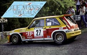Calcas Renault 5 Maxi Turbo Tour Corse 1985 27 1:32 1:43 1:24 1:18 decals Auriol