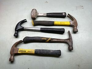 Hammer Lot Claw Vintage Hand Tool Carpentry Woodworking Body Work STANLEY+